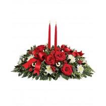 Aranjament cu trandafiri si crizanteme - Flori de Lumina Roflora