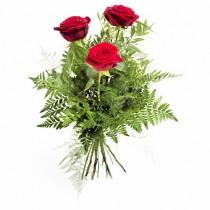 Buchet din 3 trandafiri rosii - I Like You Roflora