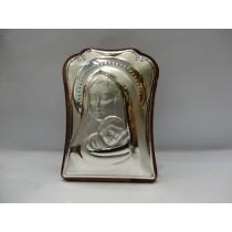 Icoana argint 925 pe lemn cu Fecioara si Mantuitorul 520 Dasinu
