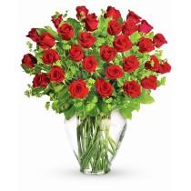 Buchet cu 31 trandafiri rosii - Parfumul Preferat al Fericirii Roflora