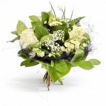 Buchet din 3 trandafiri albi - Pure Feelings Roflora