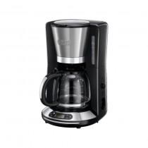 Cafetiera Russell Hobbs Velocity 24050-56, 1100 W, 1.25 l, Filtrare rapida, Timer, Inox/Negru