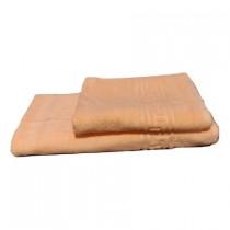 Set 2 Prosoape de bumbac 100% design simplu si elegant culoare Portocaliu