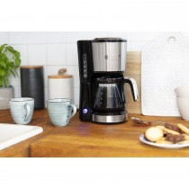 Cafetiera Russell Hobbs Compact Home 24210-56, 650 W, 0.7 L, Design compact, Filtrare rapida, Inox