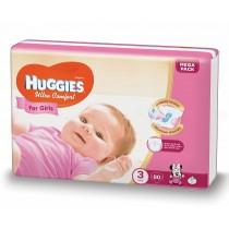 Scutece Huggies Ultra Confort Mega Pack 3, Fete, 5–9 kg, 80 buc
