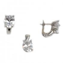 Set argint rodiat cu zirconiu - DA215