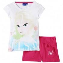 Set tricou cu pantaloni scurti Elsa Frozen