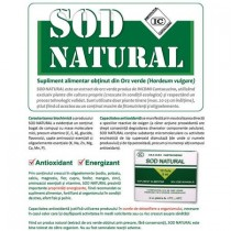 Sod natural ,Institutul Cantacuzino ,extract orz verde,unic in lume, cutie 10 fiole
