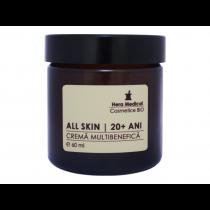 Crema multibenefica pentru femei 20+ ani, All Skin, Hera Medical Cosmetice BIO, 60 ml Totsub20
