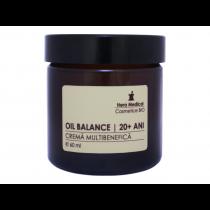 Crema multibenefica sebo-regulatoare pentru femei 20+ ani, Oil Balance, Hera Medical Cosmetice BIO, 60 ml Totsub20