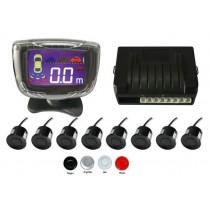 Senzori parcare fata spate cu 8 senzori si display XENON BRIGHT