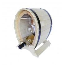 Suport din lemn pentru vin cu pahare culoare natur ALEXER SRL