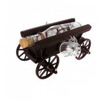 Minibar car mic din lemn cu 2 paharute CDT-07-OSH ALEXER SRL