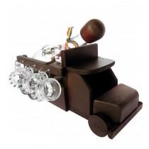 Minibar camion din lemn cu sticla si paharute CDT-14-OSH  ALEXER SRL