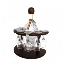 Minibar din lemn cu sticla si pahare CDT-23-OSH ALEXER SRL