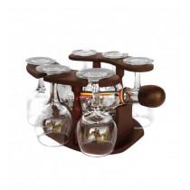 Minibar din lemn cu sticla si 6 pahare CDT-25-OSH ALEXER SRL