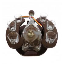 Minibar din lemn cu sticla si 6 paharute CDT-26-OSH  ALEXER SRL