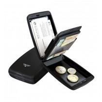 Portofel aluminiu mat negru Cash & Cards Tru Virtu - Silk Line ALEXER SRL