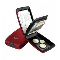 Portofel aluminiu mat rosu Cash & Cards Tru Virtu - Silk Line  ALEXER SRL
