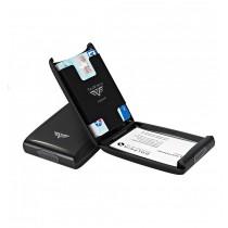 Portcard aluminiu mat negru Tru Virtu Credit Card Case - Silk Line  ALEXER SRL