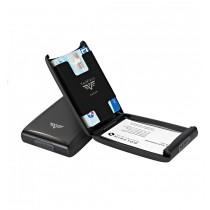 Portcard aluminiu mat gri Tru Virtu Credit Card Case - Silk Line  ALEXER SRL