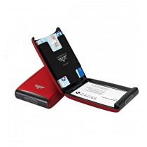 Portcard aluminiu mat rosu Tru Virtu Credit Card Case - Silk Line  ALEXER SRL