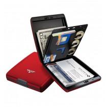 Portofel aluminiu mat rosu Tru Virtu Money & Cards - Silk Line  ALEXER SRL
