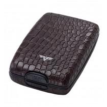 Portofel piele Croco Brown Tru Virtu Cash & Cards - Leather Line  ALEXER SRL