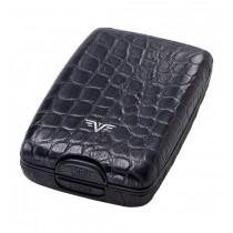 Portofel piele Croco Black Tru Virtu Cash & Cards - Leather Line  ALEXER SRL