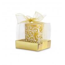 Lumanare decorativa in suport de sticla auriu ALEXER SRL