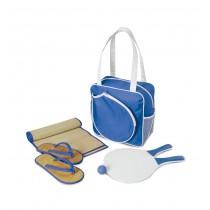 Geanta plaja cu accesorii Janis albastra ALEXER SRL
