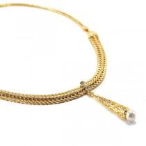 Colier placat cu aur de 18k IMPEX SILVERGOLD SRL