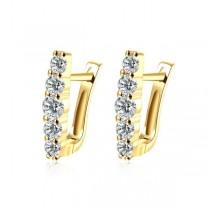 Cercei, brand onlinebijoux, placati cu aur de 18 k , colectia Golden IMPEX SILVERGOLD SRL