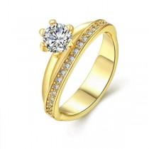 Inel, brand onlinebijoux, placati cu aur de 18 k , colectia Solitair trend IMPEX SILVERGOLD SRL