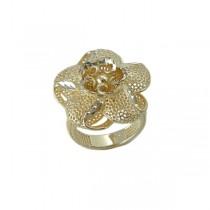 Inel, brand onlinebijoux, argint 925, colectia Exclusiv Bride , placat cu aur de 18 k, circumferinta 56 mm IMPEX SILVERGOLD SRL