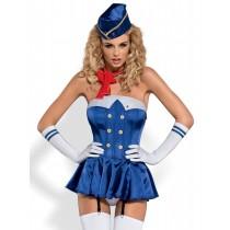Pachet cadou Bodystocking si Costum sexy Stewardesa Obsessive PRO LOVE