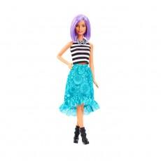 Papusa Barbie Fashionistas, par scurt mov, fusta verde