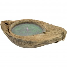 Lumanare decorativa Gusta in nuca de cocos, albastra, 24271BL Germag