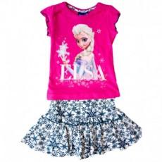 Set copii tricou cu fusta Elsa Frozen