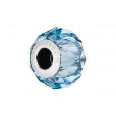 Accesoriu bratara tip Pandora - Charm Swarovski Briolette Aquamarine + Cutie Cadou Criando Bijoux