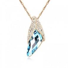 Colier trendy cu cristal australian albastru TRENDWORLD