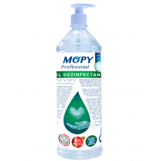 Gel dezinfectant antibacterian 70 alcool MOPY 1 litru avizat de Institutul Sanitaro- Medical Cantacuzino