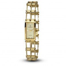 Ceas de dama, Swiss Made, Auriu, Bratara otel inoxidabil, 4 Diamante Christina Diamonds SRL