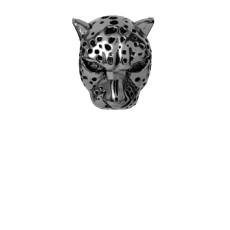 Talisman, Leopard, Argint cu ruteniu Christina Diamonds SRL