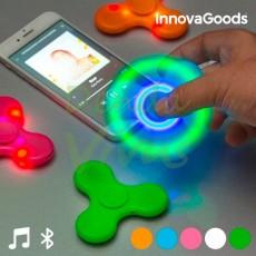 Spinner LED cu Boxă și Bluetooth portocaliu