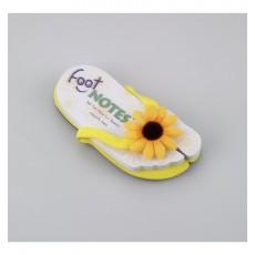 Carnetel in forma de papuc de plaja Galben cu Floarea soarelui  ALEXER SRL