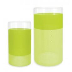 Suport lumanari si vaza decorativa verde - 655212 ALEXER SRL