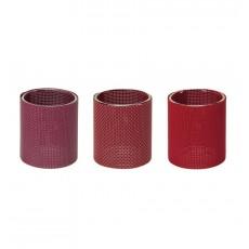 Suport lumanari rosu burgundy set 3 bucati CDT-655065  ALEXER SRL