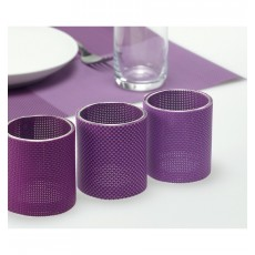 Suport lumanari violet set 3 bucati CDT-655063 ALEXER SRL