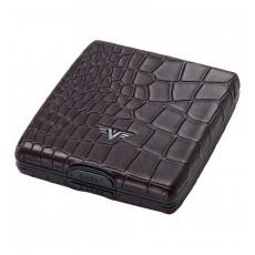 Portofel piele Croco Brown Tru Virtu Money & Cards - Leather Line  ALEXER SRL